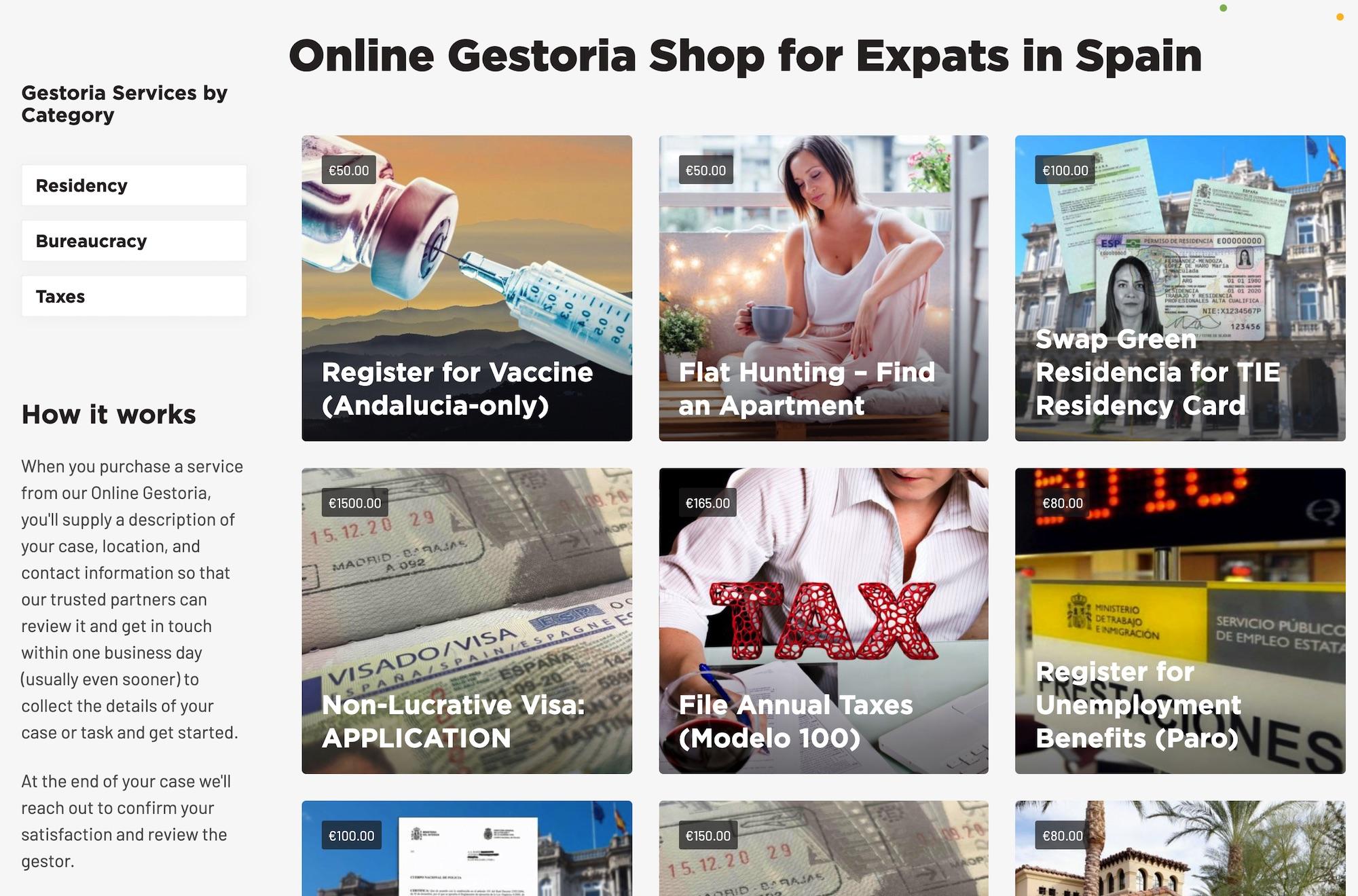 Spain Expat Online Gestoria Shop