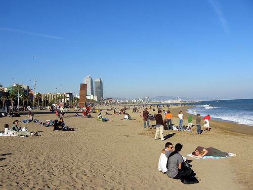 beaches in spain madrid. Beaches in Spain: Barceloneta