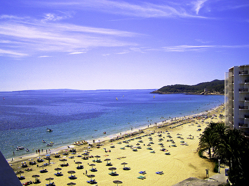 Beaches in Spain: D'en Bossa Beach, Spain
